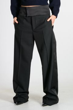 Virgin Wool Blend Pants