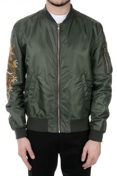 Embroidery Nylon Bomber