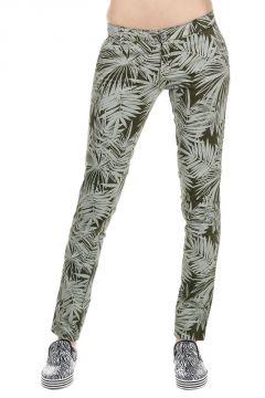 Pantaloni Misto Cotone con Stampa Foglia