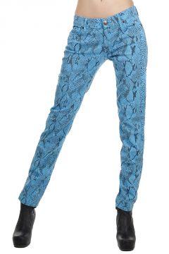 Jeans Slim Fit con Stampa Rettile
