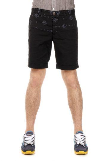 Shorts in Cotone Stretch con Stampa