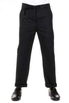 Pantaloni Loose Fit in Cotone