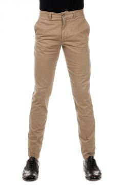 Regular Fit Stretch Cotton Trousers
