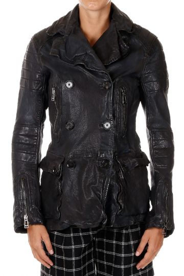 BARTLETT PEACOT double-breasted Leather Jacket