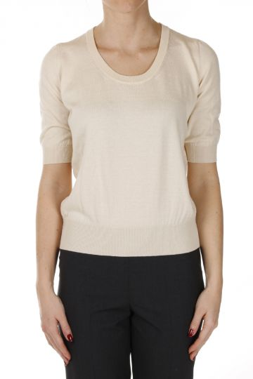 Knitted Round Neck T-shirt