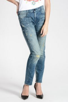 ALVEOLE STELLA Embroidered Jeans 16 cm