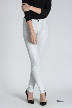 Jeans Stampa Pitone 12 cm
