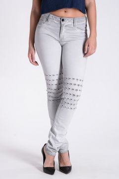 Cotton Blend Denim Jeans 14 cm