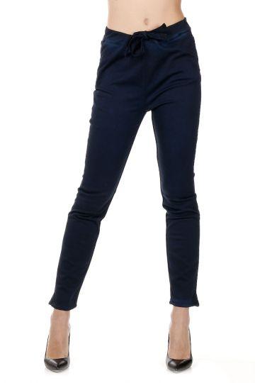 Pantaloni in Cotone Stretch con Coulisse