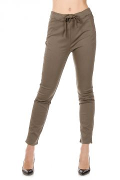 Stretch Cotton Trousers with Drawstring