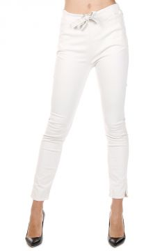 Stretch Cotton Pants with Drawstring