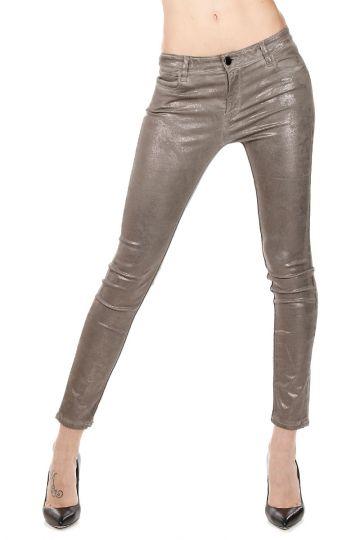 Pantalone laminato Cropped Skinny