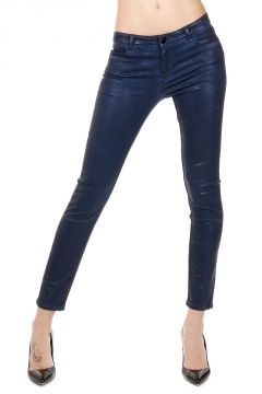 Cropped Skinny laminated Pants