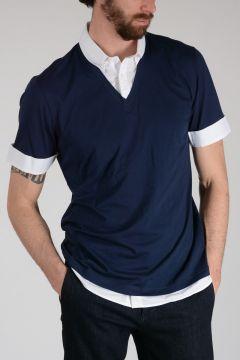 Cotton Polo with Collar