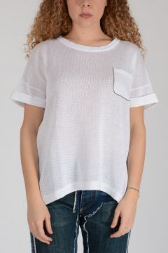 Knitted T-shirt with Brass Refinement