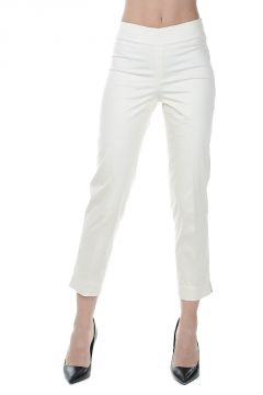 Pantaloni Cropped in Cotone Stretch