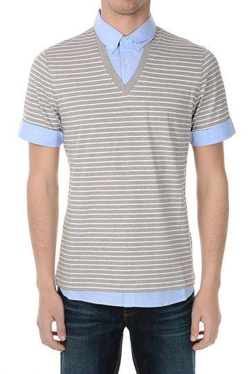 T-shirt SLIM FIT in Cotone Collo Polo