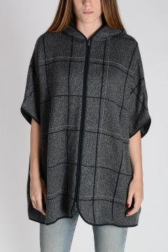 Oversize checked Cashmere knitted Jacket