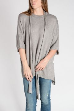 Cashmere & Silk Sweater with Scarf