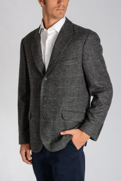 Virgin Wool Alpaca Blend Blazer