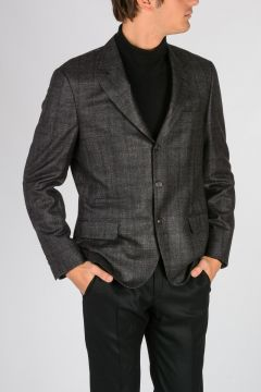 Virgin Wool silk Linen Cashmere Blazer