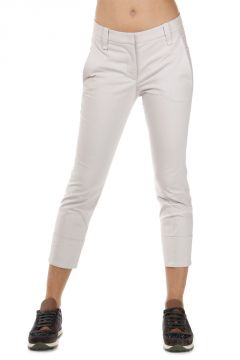 Pantaloni Capri in Cotone Stretch