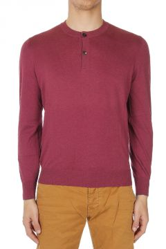 Round Neck Henley Shirt