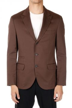 Cotton Mixed Single Breasted Blazer