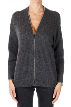 Cardigan con Perline Applicate