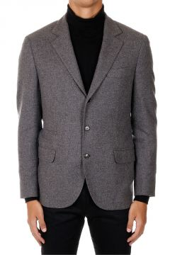 Cashmere Blend Single Breasted Jacket