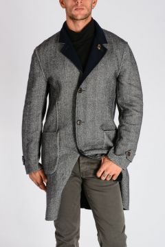 Reversible Wool and Cashmere Coat