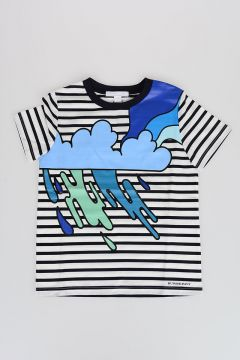 Printed Striped T-shirt