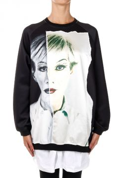 Detachable detail Printed Sweatshirt