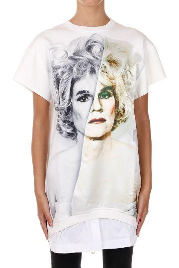 T-shirt stampata con Zip sul retro