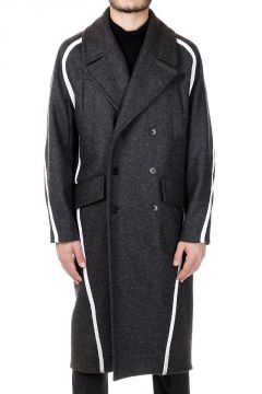 Wool blend Coat with Side Bands