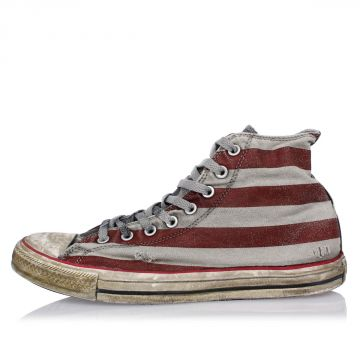 High Sneakers STARS&BARS in Canvas