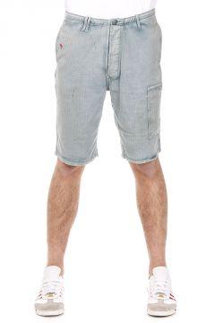 Shorts in Cotone Spinato con Ricami