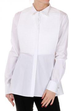 Camicia PLISSE DAMIER in Popeline di Cotone
