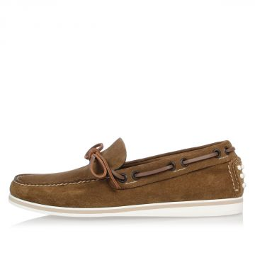 Leather Suede Loafer