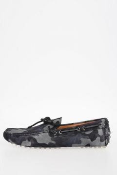 Camouflage Suede Leather Loafers