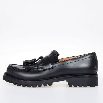 Leather Loafer with Fringes