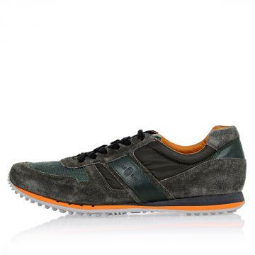 Leather Nylon Sneakers