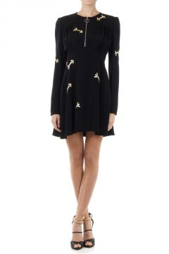 Embroidered ROBE CREPE dress