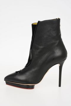 Leather ASYMMETRIC DEBORAH boots