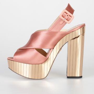 14 cm ELECTRA Satin Sandals