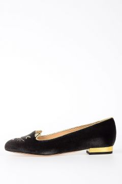 Leather Velvet LOL KITTY  Ballet Flat