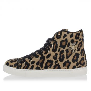 Pony skin LEOPARD High top Sneakers
