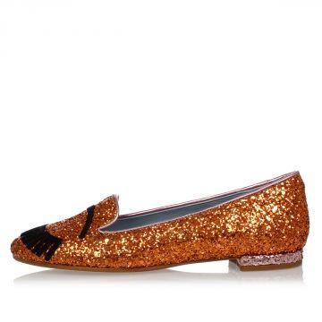 Glitter Slip on ballet flat