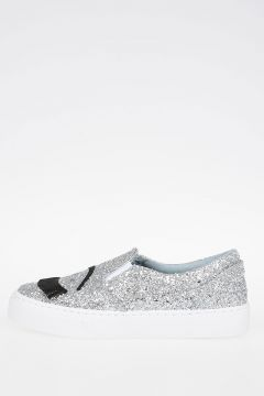Glittered FLIRTING EYE Slip-on Sneakers