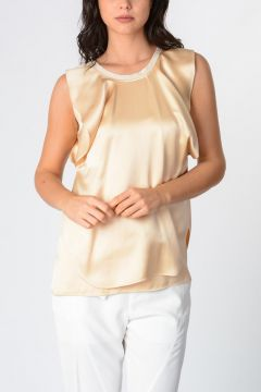 Silk Blend Sleeveless Top